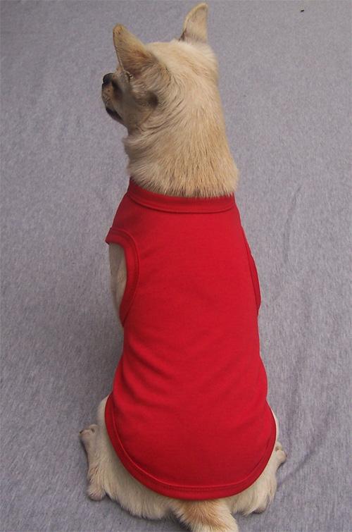 Blank Dog Tank Top-red - DogSmartway - China Pet Apparel Manufacturer